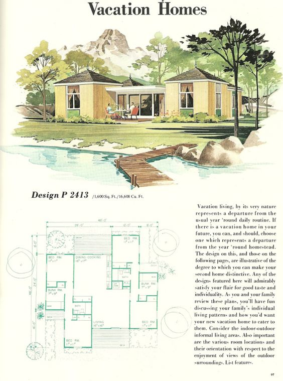 Vintage House Plans  Vacation homes  s vacation homes    Vintage House Plans  Vacation homes  s vacation homes