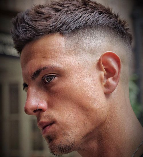 Short Textured Thick Hair Shaved Sides Best Very Short Haircuts For Men Cool Short Men S Hairstyles Mens Haircuts Short Very Short Hair Short Hair Styles
