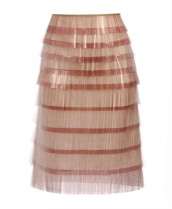 film fringed pencil skirt marc jacobs s/s2012 brown's