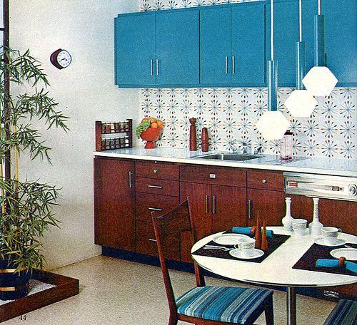 Kitchens Vintage Lighting And 1960s Kitchen On Pinterest