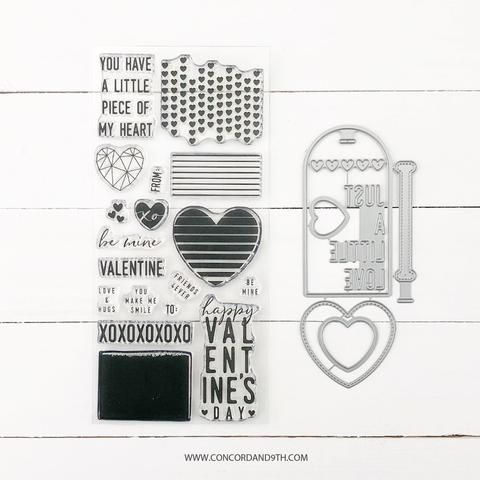 Concord & 9th - LITTLE LOVE TAGS Clear Stamps and Dies BUNDLE set
