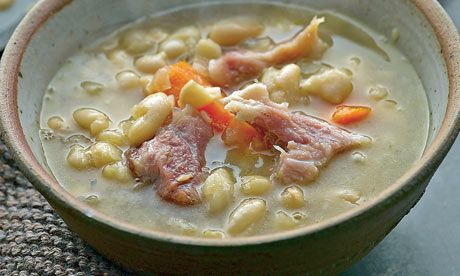 Tom Kitchin's ham hock with white beans  Tom Kitchin may have a Michelin star under his belt, but that doesn't mean he doesn't know a thing or two about rustic comfort food