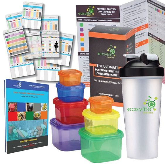 Portion Control Containers Ultimate Kit With 21 Day Fix Planner Meal And Protein #easyLifeBasics