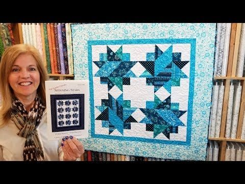 12 Spinning Stars Blue Metallic Quilt Youtube 60 X 60 Quilts Quilt Tutorials Missouri Star Quilt Tutorials