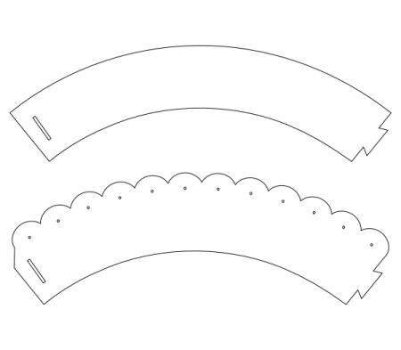 It is a graphic of Old Fashioned Printable Cupcake Wrapper Template