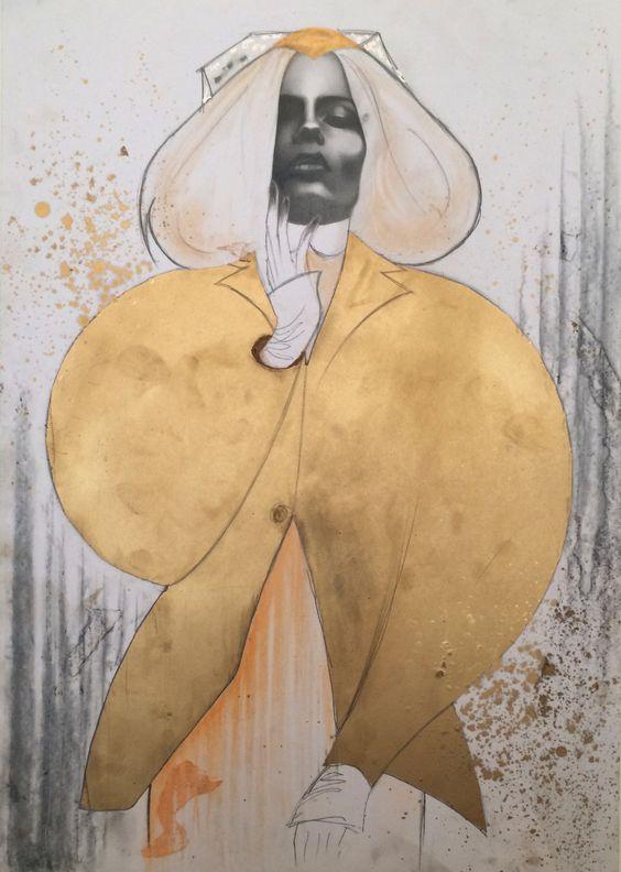 Thom Browne F/W 2014 by Bex Cassie Illustration.Files: New York Fashion Week F/W 2014 Fashion Illustrations by Bex Cassie