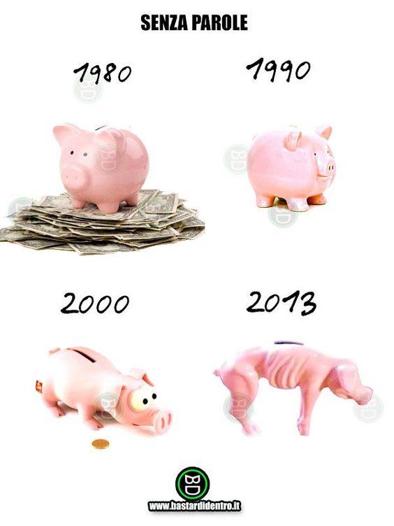 I tempi cambiano, anche il salvadanaio!  #bastardidentro #salvadanaio #porcellino #risparmi