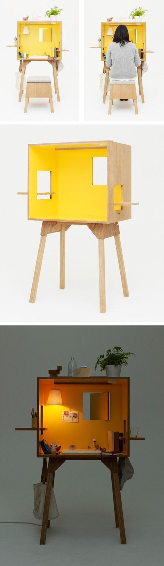 Une maison de poupée comme bureau Dernière création du studio d'architecte Torafu, le Koloro Desk. Espace de travail personnalisable, il est le premier d'u