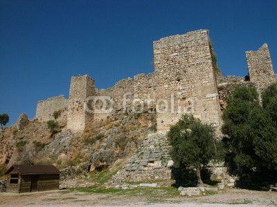 Die Burgfestung Pecinkale bei Milas im Westen der Türkei in der Nähe von Bodrum am Ägäischen Meer