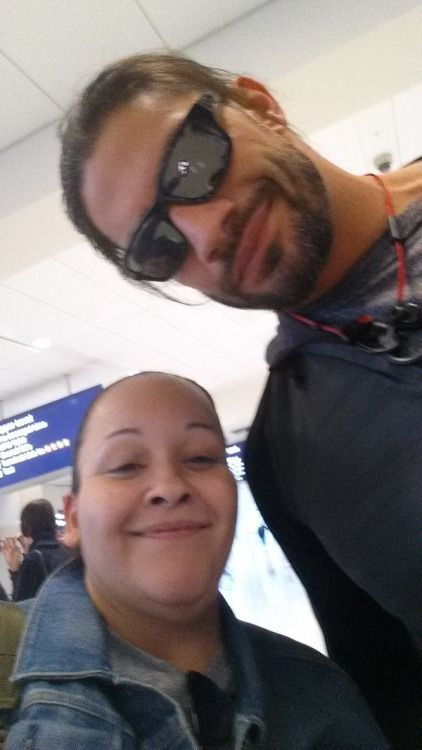 Roman Reigns aka Joe Anoa'i with a fan