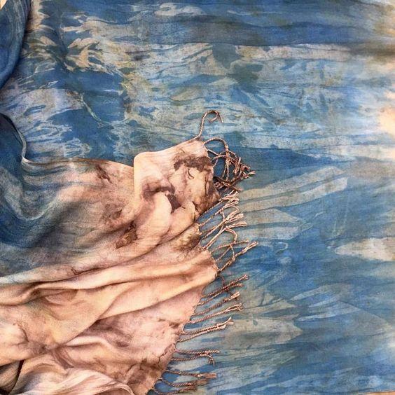 Mona Lewis pashmina scarf ecoprint