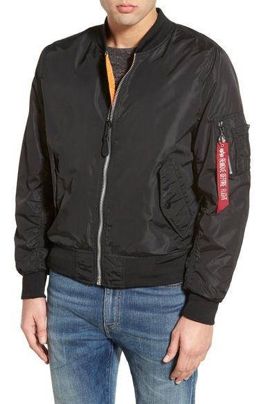 ALPHA INDUSTRIES 'Ma-1' Water Resistant Reversible Flight Jacket ...