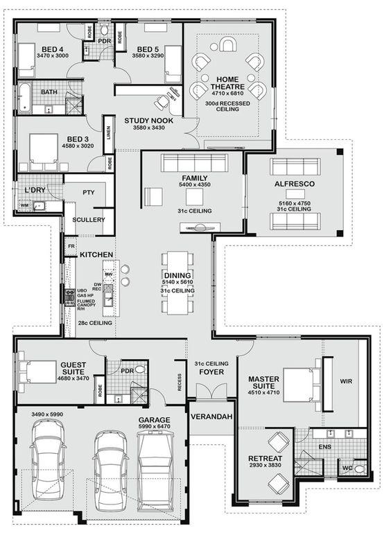 Floor Plan Friday 5 Bedroom Entertainer Floor Plans