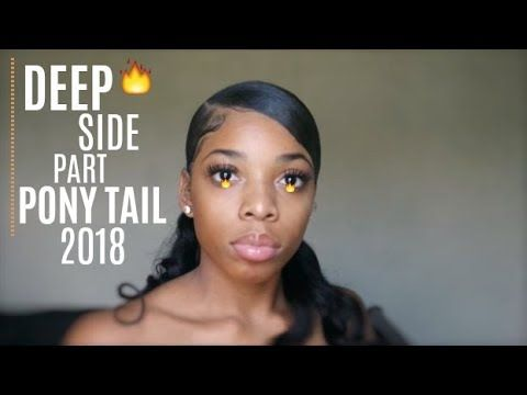 The Best Deep Side Part Ponytail On Natural Hair Realtime Detailed Youtube Natural Hair Styles Ponytail Tutorial Curly Hair Styles Naturally