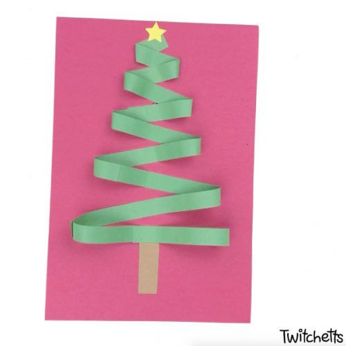 How To Make A Zig Zag Christmas Tree Papercraft With Kids Kids Construction Paper Paper Crafts Christmas Tree Cards