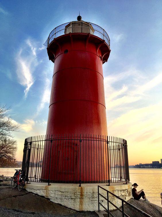 The Little Red Light House under the George Washington Bridge, NY, New York