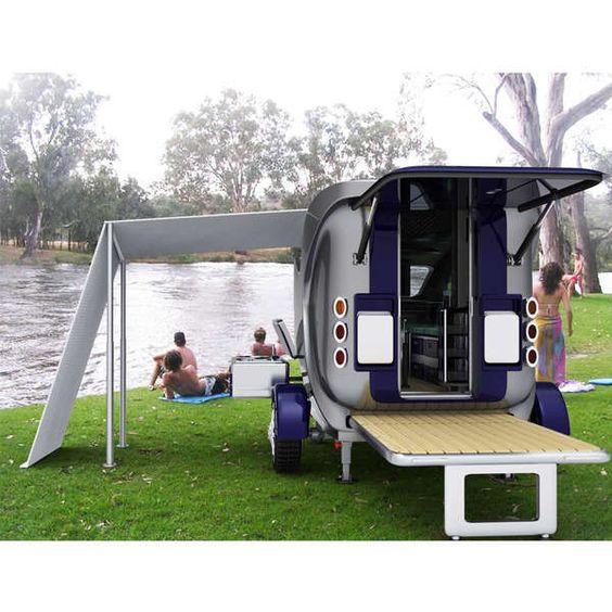 Campers the minimalist and luxury rv on pinterest - The minimalist caravan ...