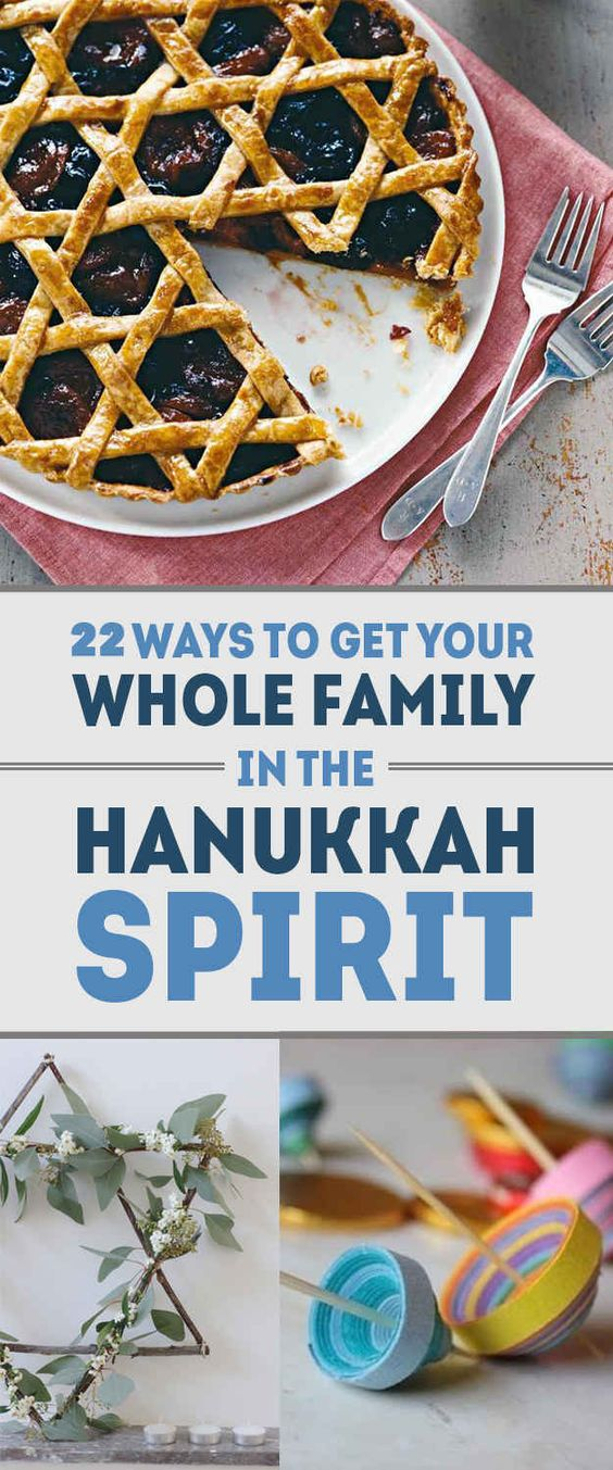 22 Gorgeous Ways To Get Your Whole Family In The Hanukkah Spirit