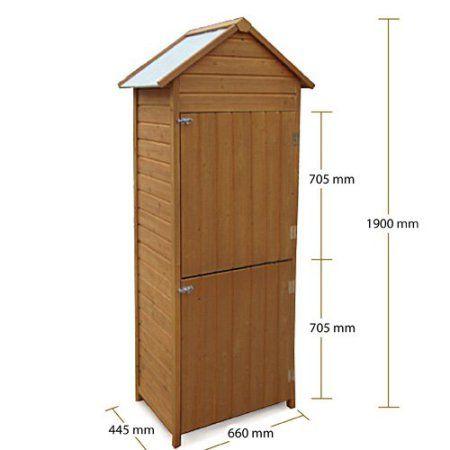Rotfuchs GTS01 Armoire de jardin en bois pour outils étanche Format XL –