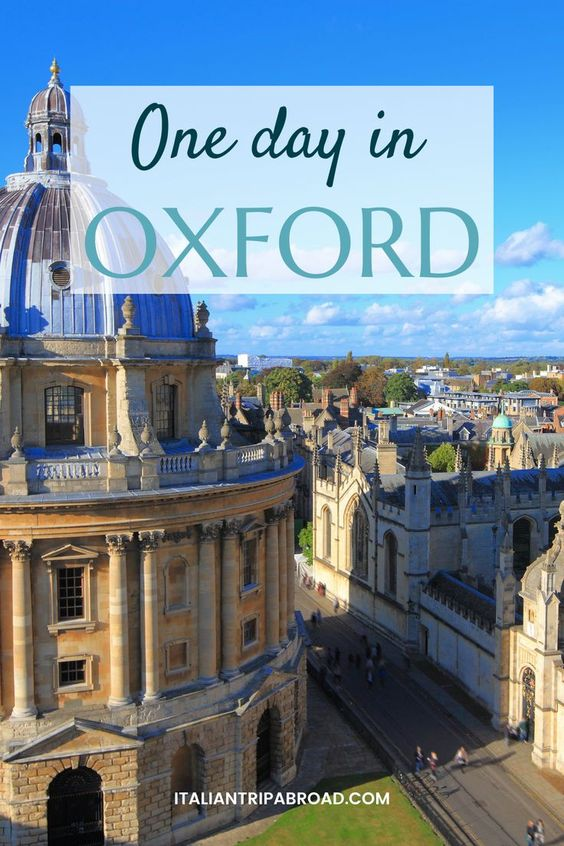 One day in Oxford England