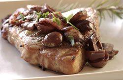 Tuna Steaks with Olive Sauce
