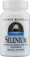 Source Naturals - Selenium, 200 mcg, 120 tablets by Source Naturals. $7.49. Serving Size - 1 tablet. Selenium is a powerful antioxidant mineral. Selenium may reduce the risk of certain cancers. Some scientific evidence suggests that consumption of selenium may reduce the risk of certain forms of cancer. However, FDA has determined that this evidence is limited and not conclusive.