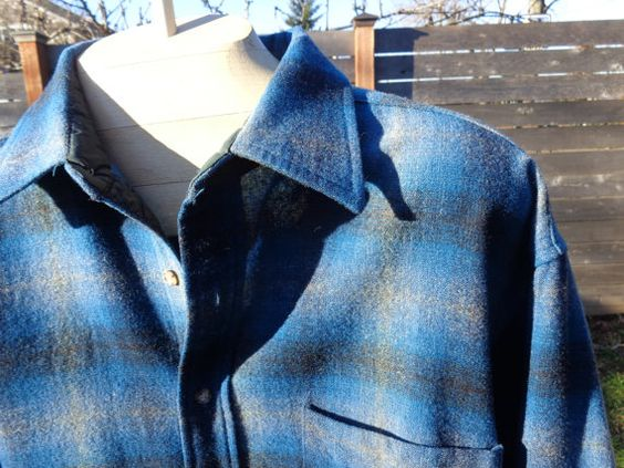on sale Vintage Pendleton Shadow Plaid shirt jacket by Simplemiles, $48.00