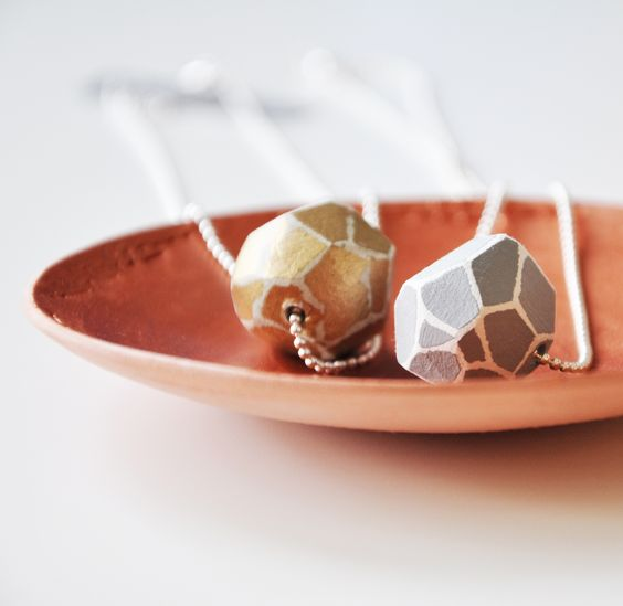 Terracotta and copper Clay jewellery dish