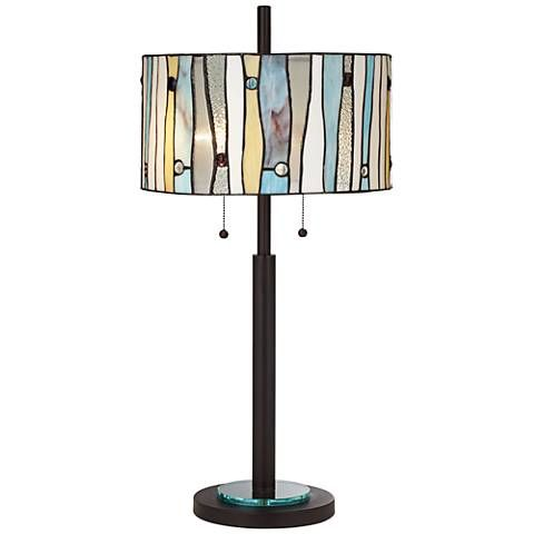 Appalachian Spirit Tiffany Style Glass Table Lamp 6h289 Lamps