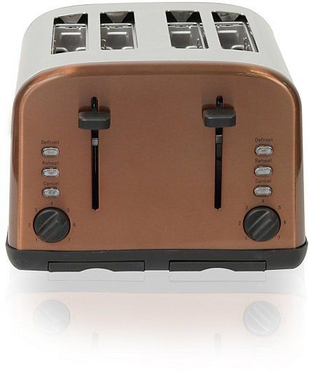 Pin for Later: Jump On the Copper Trend With These 42 Home Accessories George Home 4 Slice Toaster George Home 4 Slice Toaster (£25)