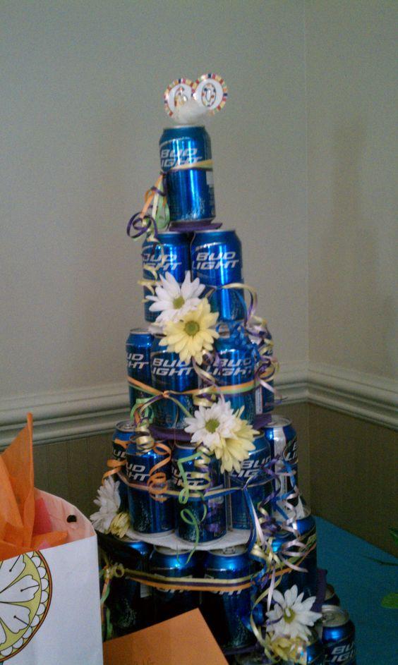 Beer Can Cakeminus The Flowersand Add Camo Ducktape