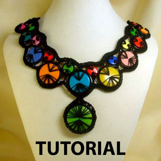 crochet button necklace instructions