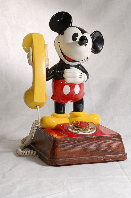 Ahhh memories!! This is the phone I had when I was a little girl!  Mickey Mouse rotary phone!! :)