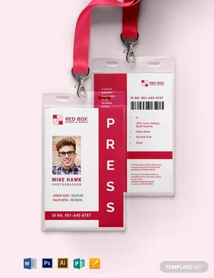 Vertical Press Id Card Template In 2020 Id Card Template Card Template Cards