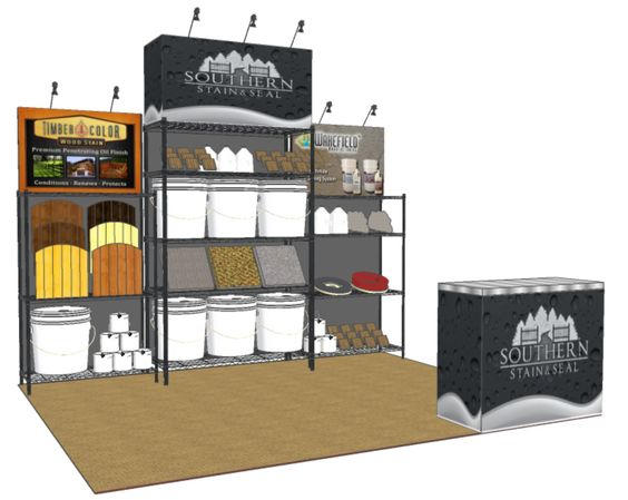 southern stain and seal trade show booth design trade