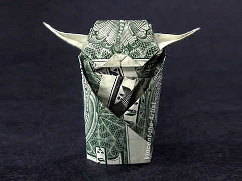 Yoda Money Origami: