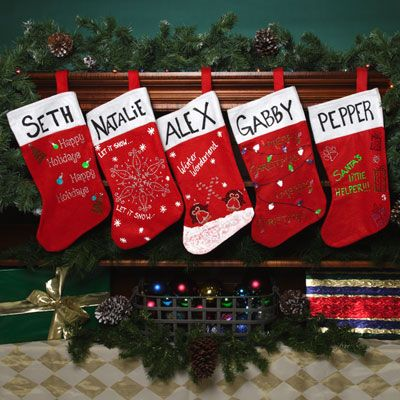 best christmas stocking decorating ideas contemporary - interior