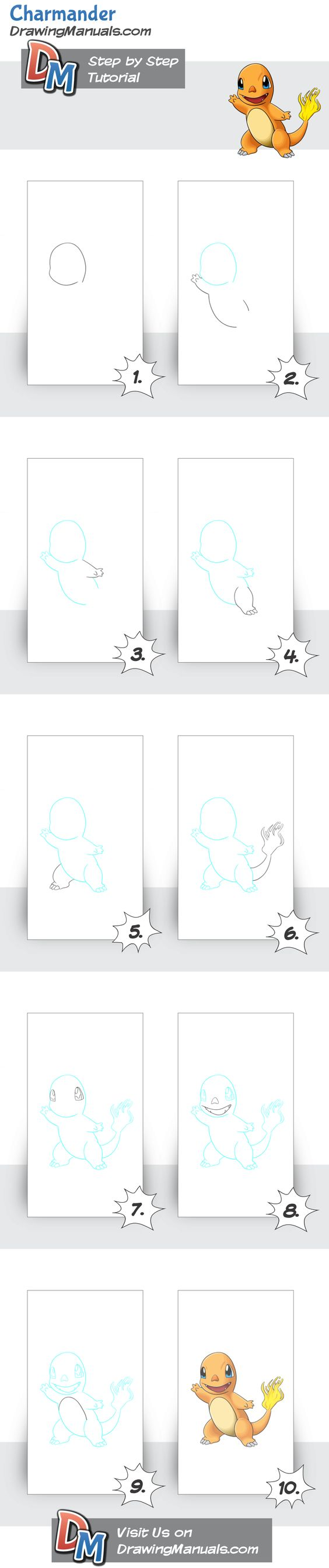 How to Draw Charmander-Pokemon, real easy step-by-step tutorial for all the beginners and kids... try it out it's super fun!  http://drawingmanuals.com/manual/how-to-draw-charmander-pokemon/