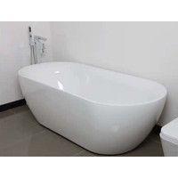 ECT Global Sorrento Acrylic Oval Freestanding Bath Tub 1800