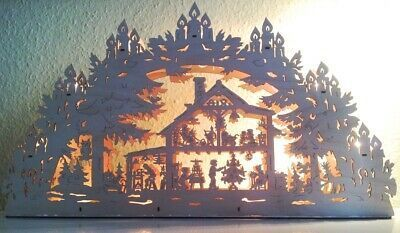 Puzzlekarte Weihnachtskarte Erzgebirge
