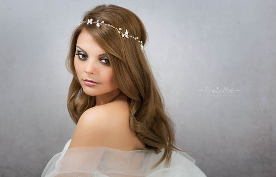Brautkranz Haarschmuck Perlen Haarkranz Haardraht
