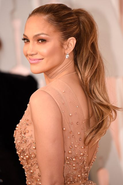 Image result for jlo red carpet ponytail