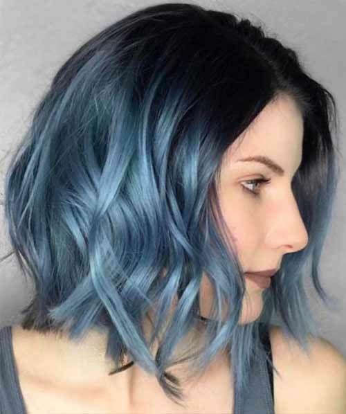 46+ Dark blue light blue ombre hair ideas