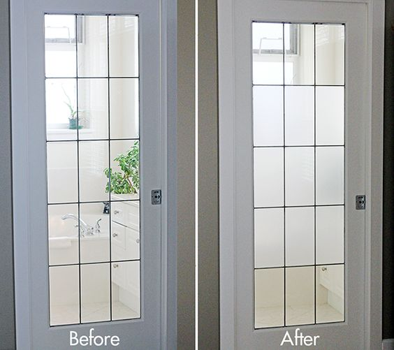 Front Door Side Window Film: DIY Frosted Glass Window Tutorial