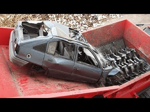 Extreme Dangerous Car Crusher Machine In Action Crush Everything