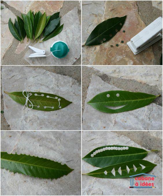 J'aime bien faire de l'art avec la nature, comme avec de simples feuilles d'arbres : couronnes, tableaux... Et comme ma fille a déniché un vieux perforateur, on en a profité pour voir ce que cela fait sur des feuilles d'arbustes. On a donc obtenus de jolis confettis verts mais pas que ;) Associez au perforateur de la ficelle et vous avez une activité à faire en plein air facile et sympa pour tous les âges. Si vos enfants ont également envie de faire de l'art naturel, montrez-nous le...