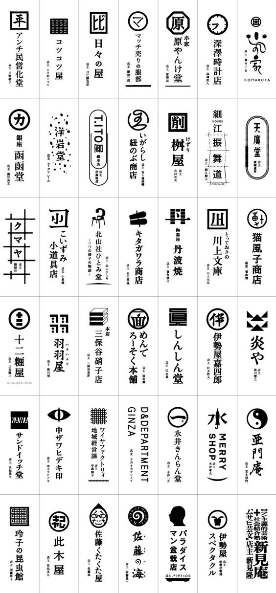 japanese logo shop--wish I knew what they all mean