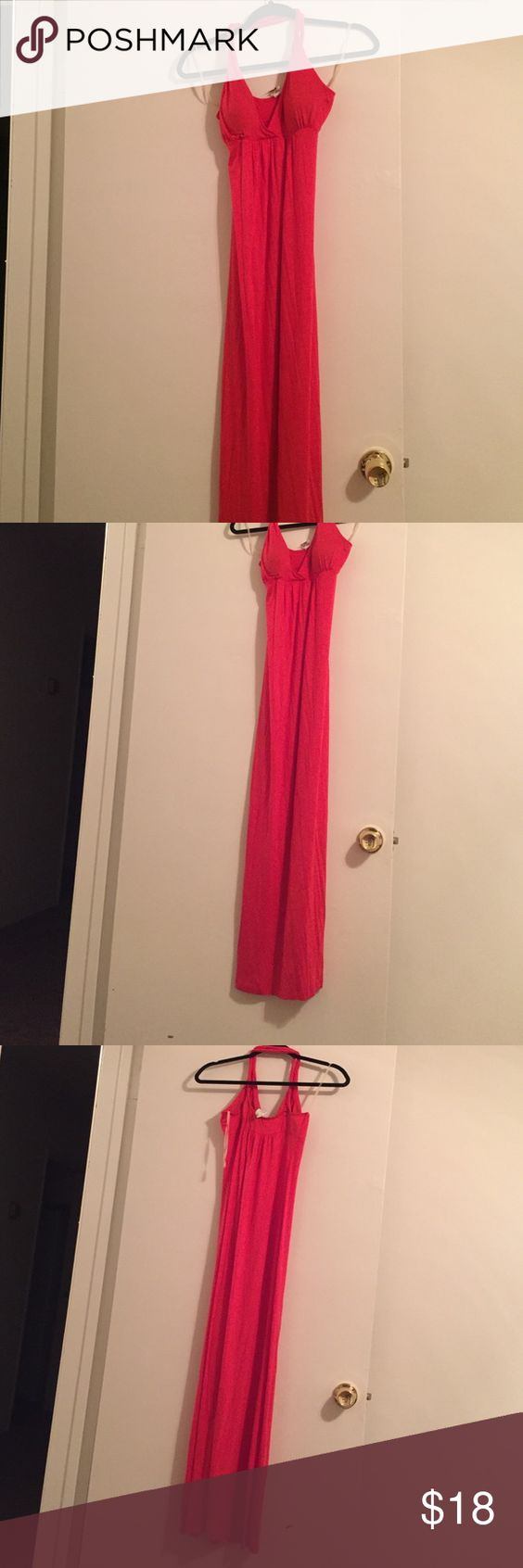 Long maxi summer dress Long. Never worn. Fits beautiful. Very stretchy. Shows too much 😱 Jolie Dresses Maxi