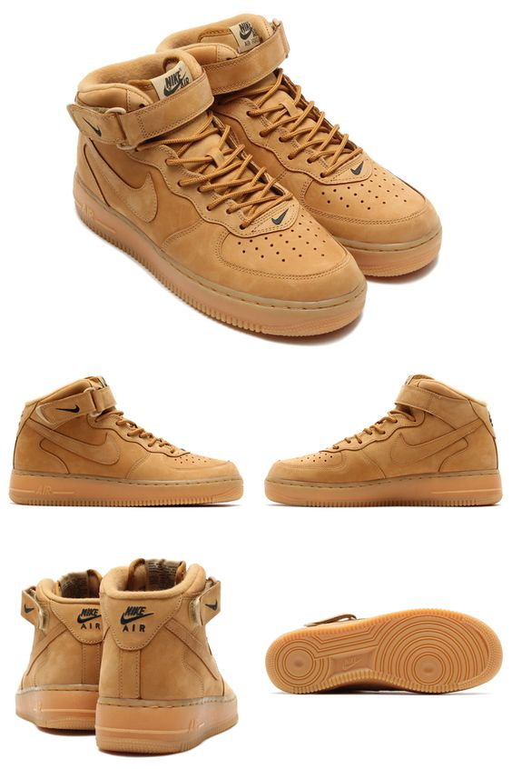vaider supra - We get another detailed look at the Nike Air Force 1 Mid ��Wheat ...