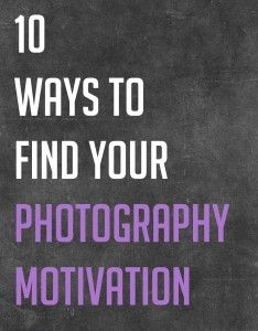 photography motivation